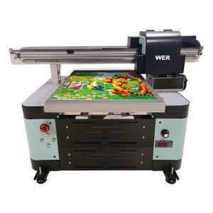 A2 ukuran datar flatbed printer kanggo logam / telpon cilik / kaca / pena / mug