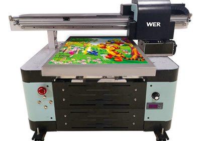 Oversea ndhukung mesin digital a2 uv flatbed printer