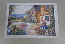 Oil Canvas dicithak kanthi printer eco solvent 2.5m (8 kaki) WER-ES2501 2