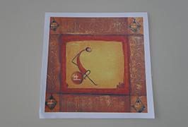 Oil Canvas dicithak kanthi printer eco solvent 2.5m (8 kaki) WER-ES2502 3