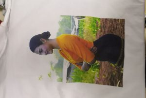 T-shirts printing sample for Burma client from WER-EP6090T printer